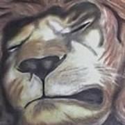 Sleeping King Art Print