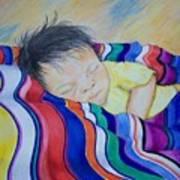 Sleeping On A Rainbow Art Print