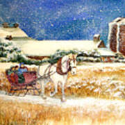 Sleigh Ride At Brickers Art Print