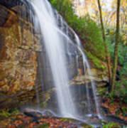 Slick Rock Falls, A North Carolina Waterfall In Autumn Art Print