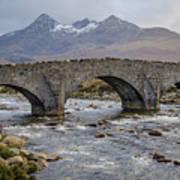 Sligachen Bridge And The Black Cullin, Isle Of Skye Art Print