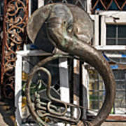 Slightly Worn Out Vintage Tuba Seeks New Home Art Print