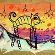 Slinky Cat Art Print