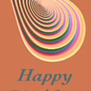 Slinky - Happy Birthday Card 2 Art Print