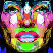 Split Personality By Nixo Art Print