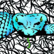 Slithering Blue Art Print