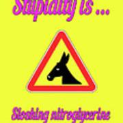 Sloshing Bigstock Donkey 171252860 Art Print