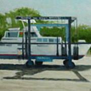 Slow  Boat Art Print