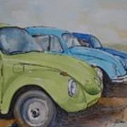 Slugbug Green Art Print