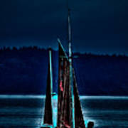 Small Among The Tall Ships Art Print