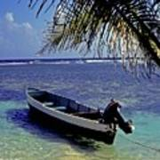 Small Boat Belize Art Print
