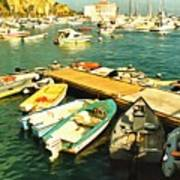 Small Boat Dock Catalina Island California Art Print