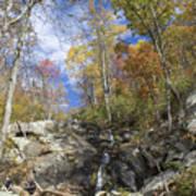 Small Fall Waterfall Art Print