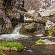Small Falls Below Big Falls Art Print