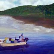 Small Fishing Boat Art Print by Tony Rodriguez