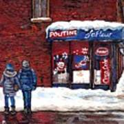 Small Format Paintings For Sale Poutine Lafleur Montreal Petits Formats A Vendre Cspandau Artist  Art Print