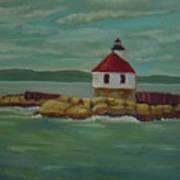Small Island Lighthouse Art Print
