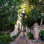Small Lane In Charleston Art Print