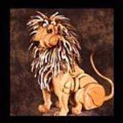Small Lion Art Print by Thomas Thomas
