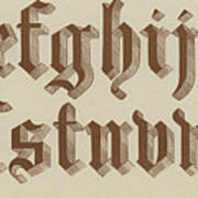 Small Old English Riband  Art Print