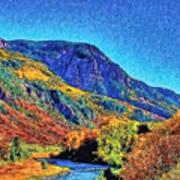 Small River Valley Art Print