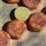 Small Round Stones Art Print