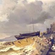 Small Seaport Near St. Malo In The Bretagne Art Print