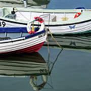 Small Skiffs - Lyme Regis Harbour Art Print