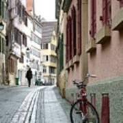 Small Street In Tubingen. Art Print