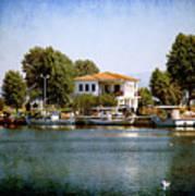 Small Town In Greece Art Print