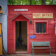 Small Town Post Office Art Print