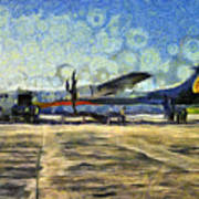 Small Turboprop Plane Art Print