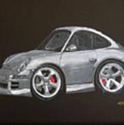 Smart Porsche Art Print