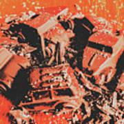 Smashem Crashem Cars Art Print