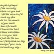 Smile - Poetry In Art Art Print