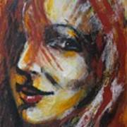 Smile - Portrait Of A Woman Art Print