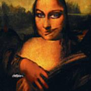 Smirking Mona Art Print