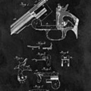 Smith And Wesson Model 3 Patent Art Print