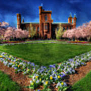 Spring Blooms In The Smithsonian Castle Garden Art Print