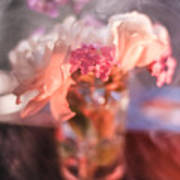Smoke And Flowers Art Print