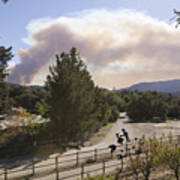 Smoke From Ventura Wildfire, View Art Print