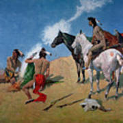 Smoke Signals Print by Frederic Remington