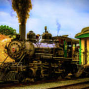 Smoke Stack Steam Train Art Print