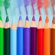 Smoked Colors Art Print