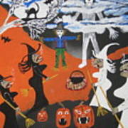 Smokey Halloween Art Print