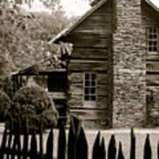 Smokey Mountain Farm Cabin With Picket Fence Art Print by Kimberly Camacho