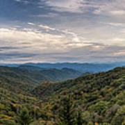 Smokey Mountain Sky Art Print