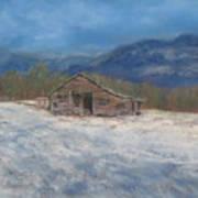 Smokey Mountain Winter Art Print