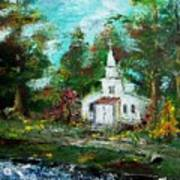 Smokey Mountains Church Art Print