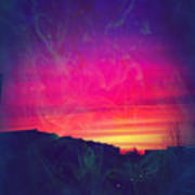 Smokey Purple Sunrise Art Print